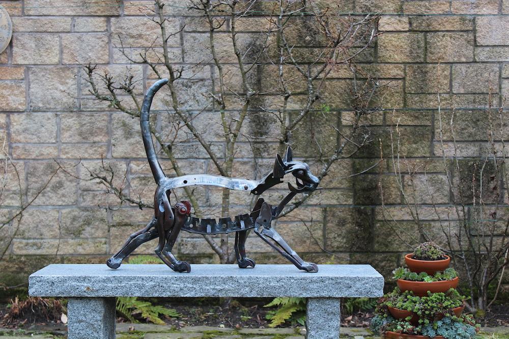 Burmese cat on granite copy
