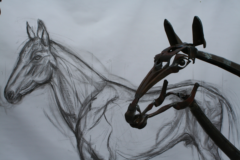 horse head and drawing 2